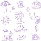 Summer doodles set vector Stock Images