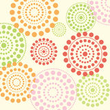 Summer dotted circles vector Stock Image