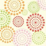 Summer dotted circles vector. Bright summer color dotted circles creative vector design background illustration Stock Image