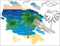 Summer drawing,   Royalty Free Stock Photos