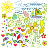 Summer drawing Royalty Free Stock Photography