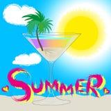 Summer drawing Stock Image