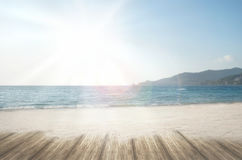 Summer dream beach loney sand beach at summer vacation time Royalty Free Stock Photo