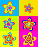 Summer dream flowers. Vector illustration of many colorful flowers Royalty Free Stock Photography