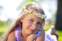 Summer dream girl Royalty Free Stock Photography