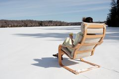 Summer Dreams. Waiting for summer on a still frozen lake Royalty Free Stock Image