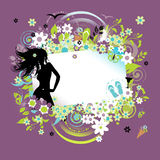 Summer dreams, greeting card Stock Images