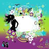 Summer dreams, greeting card Stock Image