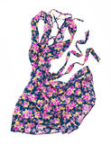 Summer dress in floral print movement in the air Royalty Free Stock Photography