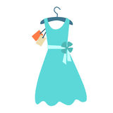 Summer dress hanger price tag Stock Images