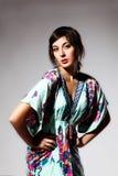 Summer Dress Pose Stock Photo