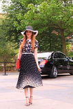 Summer dress street style fashion amsterdam Royalty Free Stock Photography
