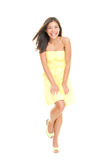 Summer dress woman cute Royalty Free Stock Photos