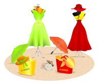 Summer dresses, cdr vector Royalty Free Stock Photos