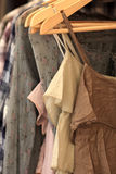 Summer dresses in a store Royalty Free Stock Photos