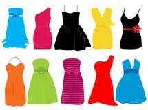 Summer dresses for women. Vector illustration of summer dresses for women Stock Photography