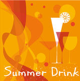 Summer drink. Abstract summer background with cocktail glasses Stock Photography