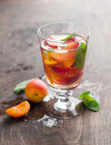 Summer drink with apricot Stock Photo