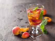 Summer drink with apricot Royalty Free Stock Photo
