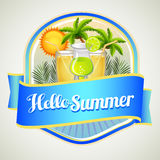 Summer drink badge Royalty Free Stock Photography
