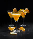 Summer drink on a black background Royalty Free Stock Photography