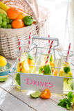 Summer drink with citrus and sugar Royalty Free Stock Photos