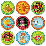 Summer drink coasters Stock Images