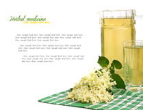 Summer drink made from elder flowers Stock Photography