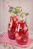 Summer drink with strawberry royalty free stock images