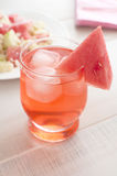 Summer drink with watermelon chunk Royalty Free Stock Photo