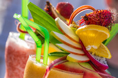 Summer drink with watermelon Stock Photo