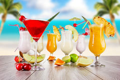 Summer drinks Stock Images