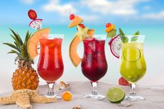 Summer drinks Royalty Free Stock Images