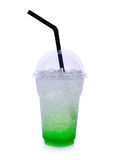 Summer drinks with ice on white background Royalty Free Stock Photo