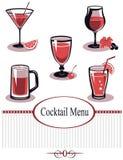 Summer drinks menu Royalty Free Stock Images