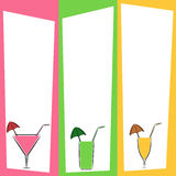 Summer drinks menu. Illustration of summer drinks menu in different colors Royalty Free Stock Image