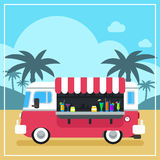 Summer Drinks and Smoothies Truck Stock Photography