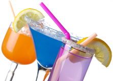 Summer drinks on white Stock Photo