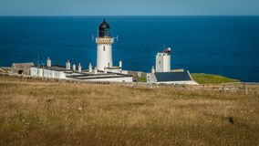 Summer at Dunnet Head Lighthouse, Caithness Stock Image