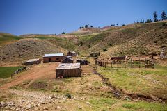Summer dwelling herders in the mountains of Morocco Stock Photo