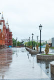 Summer early morning onn the Boulevard Ring in Moscow Stock Photos