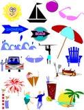 Summer eleemnts Royalty Free Stock Photos