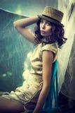 Summer elegant woman Stock Image
