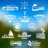 Summer element label set Stock Image