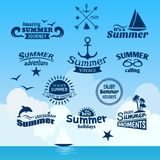 Summer element label Stock Image