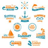Summer element label Royalty Free Stock Photos