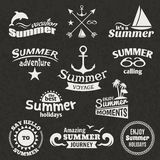 Summer element label Royalty Free Stock Image