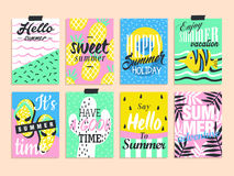 Summer elements collection Stock Photos