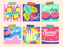 Summer elements collection Royalty Free Stock Photos