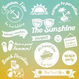 Summer elements design royalty free illustration